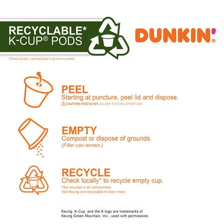 Dunkin' Original Blend, Medium Roast, Keurig K-Cup Pods, 22 Count