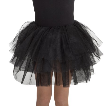 Girl Black Deluxe Tutu One Size Halloween Dress Up / Costume - Dress Up As A Girl For Halloween