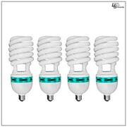 4x 45W Full Spectrum CFL 6500K Daylight Balanced Pure White Light Photo Video Bulb Set of 4 by Loadstone Studio WMLS0190
