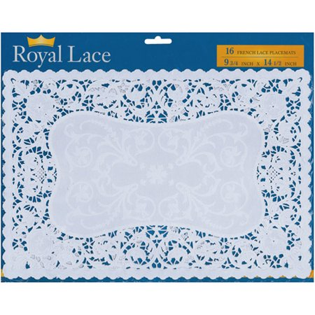 Martha Stewart Doily Lace - French Lace Paper Doilies, 9.75