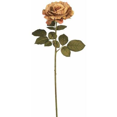 "Vickerman 26"" Artificial Light Brown Autumn French Rose Stem (3 Per Pack)"