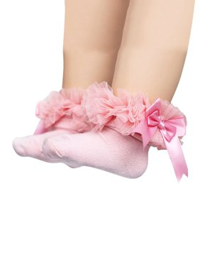 74f75271e Product Image Teen Toddler Baby Girls Elegant Bowknot Ruffles Frilly Trim Princess  Lace Ankle Socks for 0-