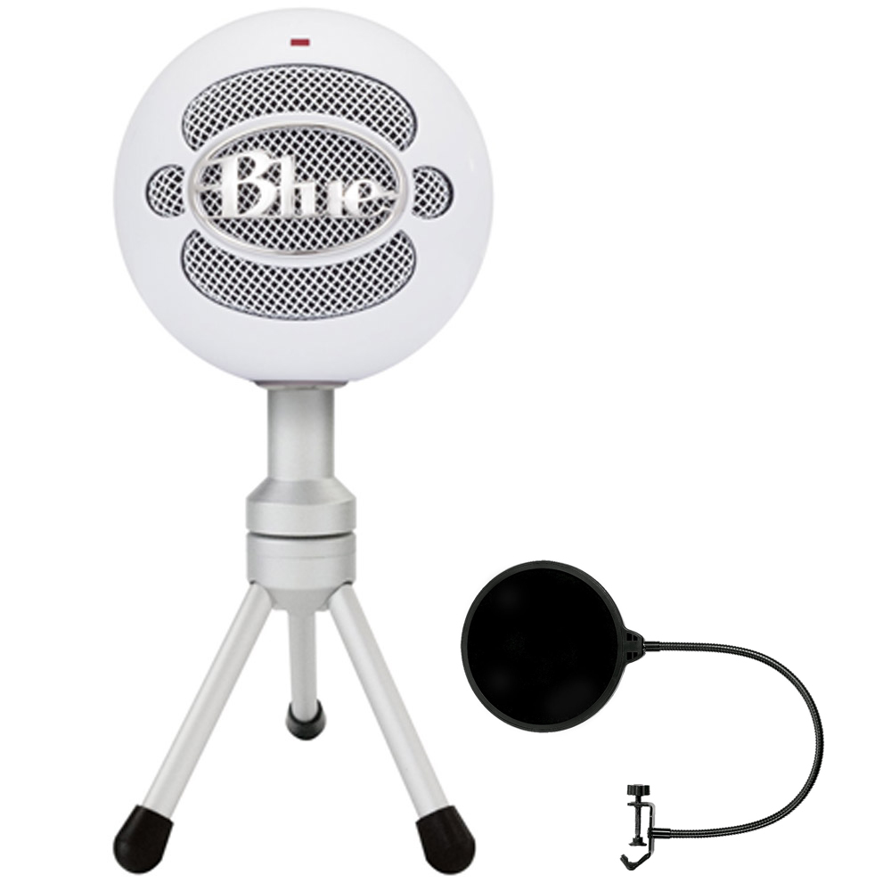 Blue Microphones Snowball iCE Versatile USB Microphone White (SNOWBALL iCE) with Pop... by Blue Microphones