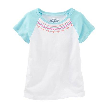 Embellished Raglan (OshKosh B'gosh Baby Girls' Embellished Raglan Tee, 6)