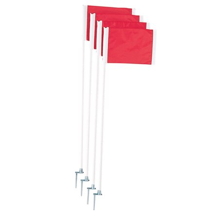 Champion Sports Soccer Corner Flag Set With Steel Peg (Soccer Corner Coupons)