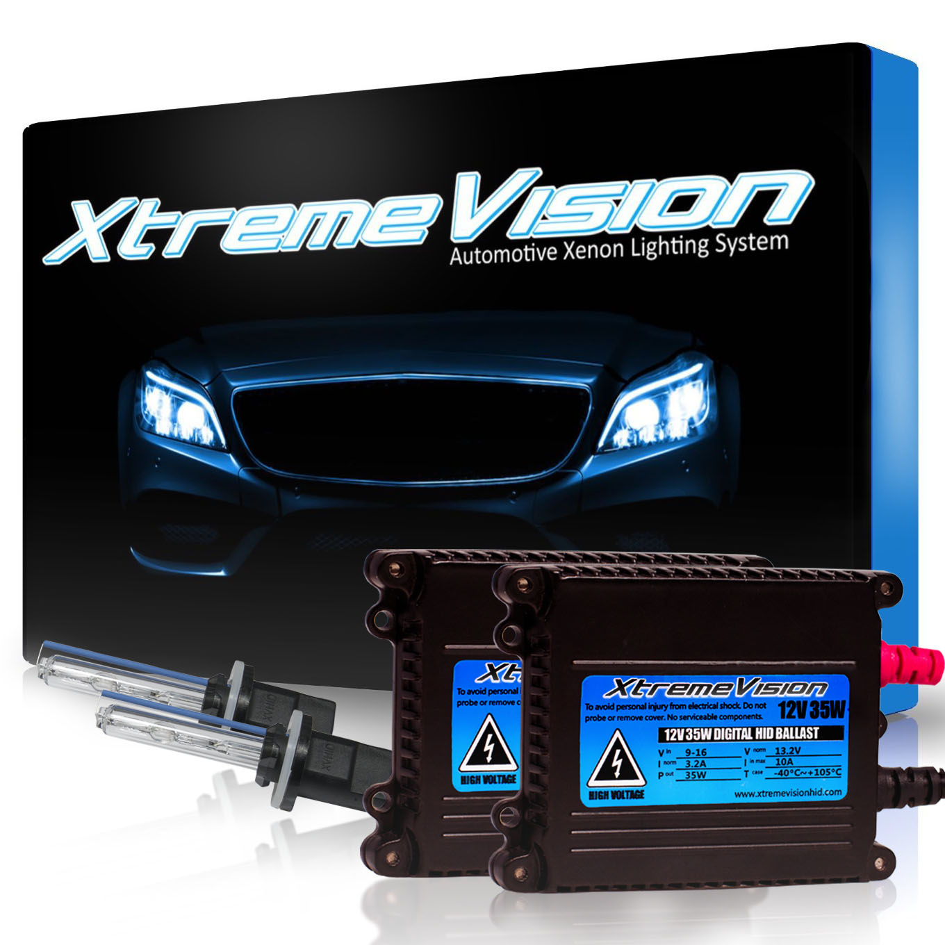 XtremeVision 35W HID Xenon Conversion Kit with Premium Slim Ballast - 880 / 881 6000K - Light Blue - 2 Year Warranty