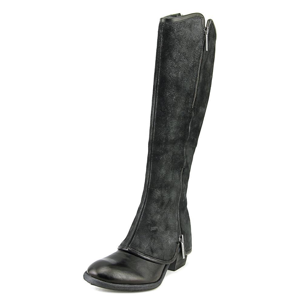 Donald J Pliner Devi4 Women Round Toe Leather Black Knee High Boot by Donald J Pliner