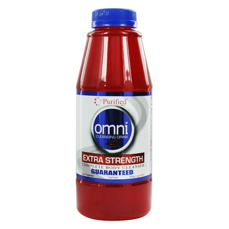 Purified Brand - Omni Cleansing Drink Extra Strength Complete Body Cleanser Fruit Punch Flavor - 16 fl. oz.