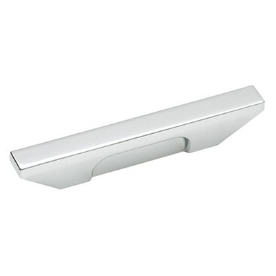 Sleek 3 in (76 mm) Center-to-Center Polished Chrome Cabinet Pull 100 Polished Chrome Pull