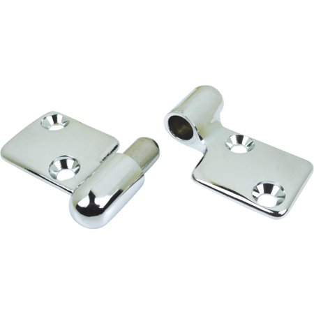 Savage Motor Plate - Seachoice Chrome-Plated Cast Brass Take-Apart Motor Box Hinge