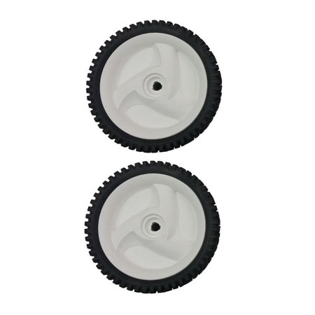 2 White Sears Craftsman Mower Front Drive Wheels for