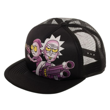Baseball Cap - Rick and Morty - Sublimated Trucker hat New Licensed qt6fqnric - Dc Shoes Trucker Hat