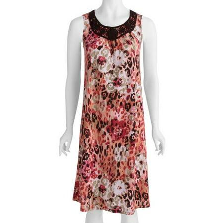 12c7156eb9e White Stag - White Stag - Womens Printed Sleeveless Dress - Walmart.com