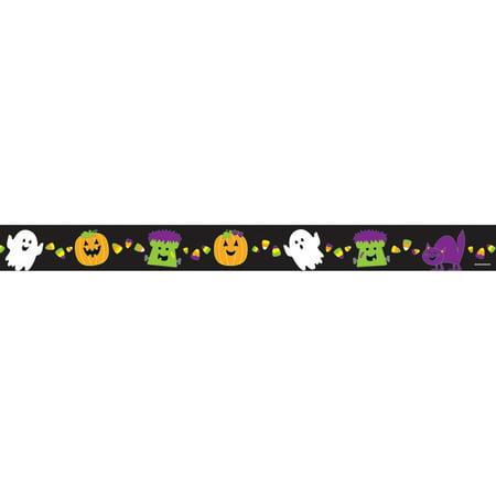 (6 PK) HALLOWEEN STRAIGHT BORDER - Halloween Borders Transparent
