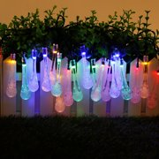 20/30LEDs Dreamy Fairy Ball Lights Solar Lights Water Droplet String Lights Outdoor Garden Decor Tree Bubble Light for Party Christmas