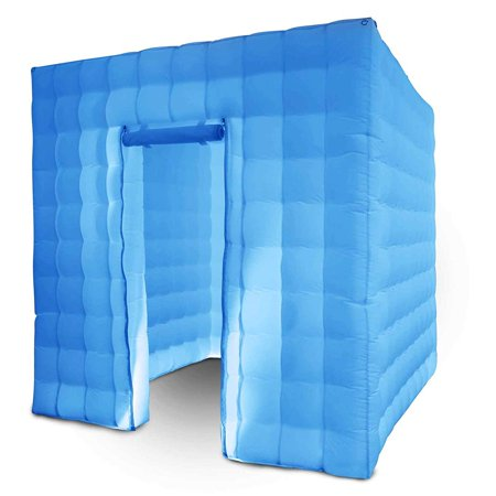 BestEquip Inflatable Portable Photo Booth Enclosure with LED Changing Lights Inner Air Blower and Controller for Wedding Party Promotions Advertising Photo Booth Tent Cube