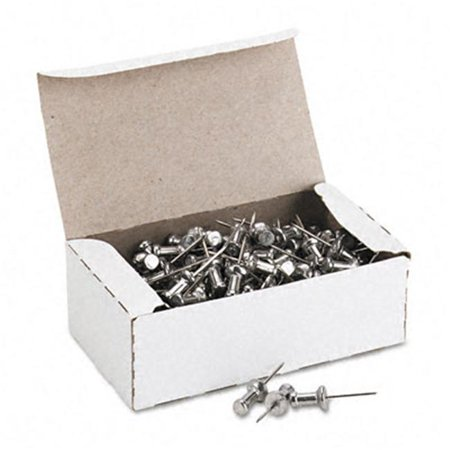 (ADVANTUS Aluminum Head Push Pins, Steel 5/8-Inch Point, Silver, 100 per Box (CPAL5))