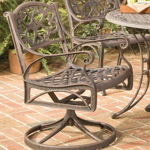Astoria Grand Van Glider Swivel Patio Dining Chair