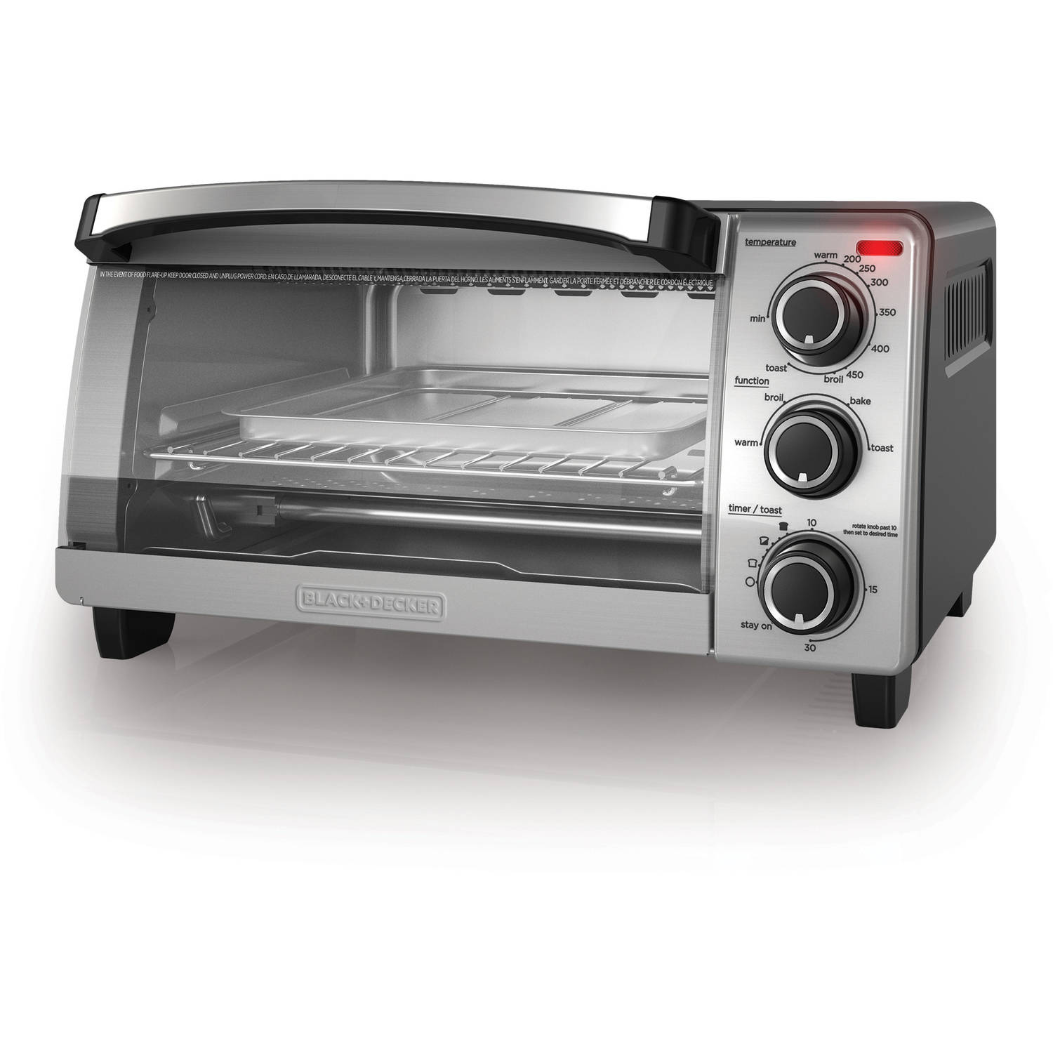 BLACK+DECKER 4-Slice Toaster Oven, Natural Convection, TO1755SB by Black & Decker