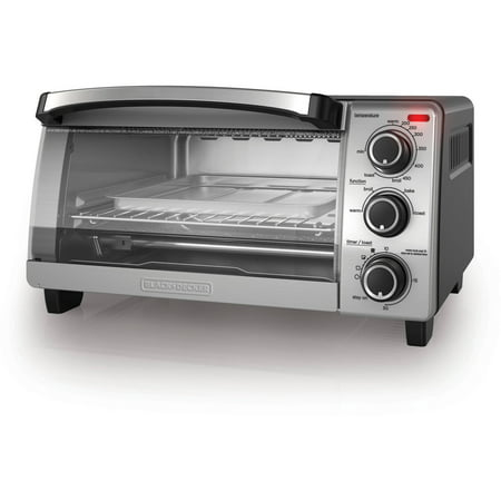 BLACK+DECKER 4-Slice Toaster Oven, Natural Convection, TO1755SB