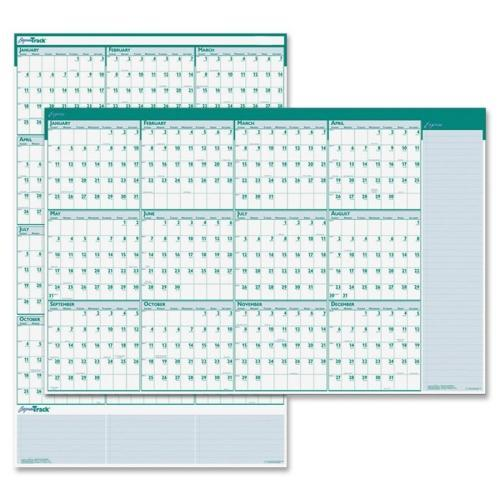 Express Track Reversible/Erasable Yearly Wall Calendar