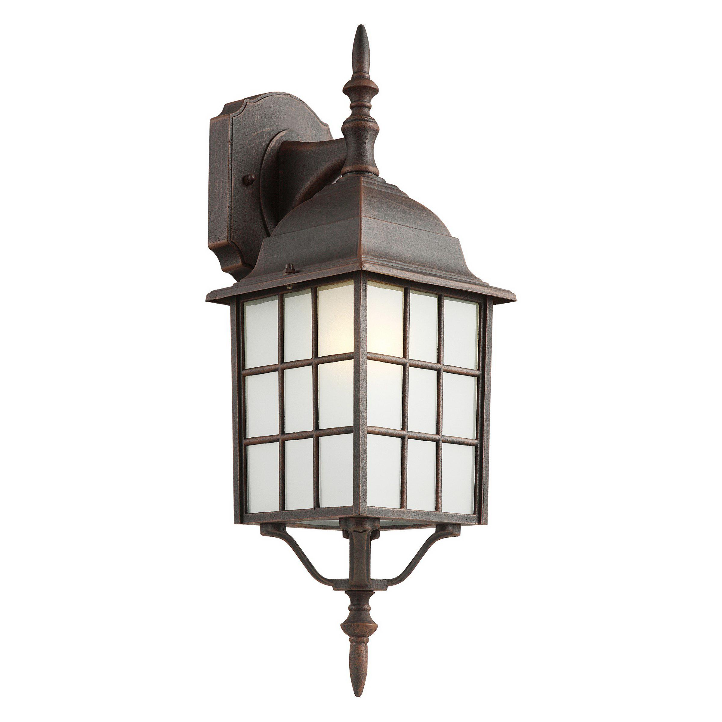 Transglobe 1Lt Wall Down Outd Square CB-4420-1 RT