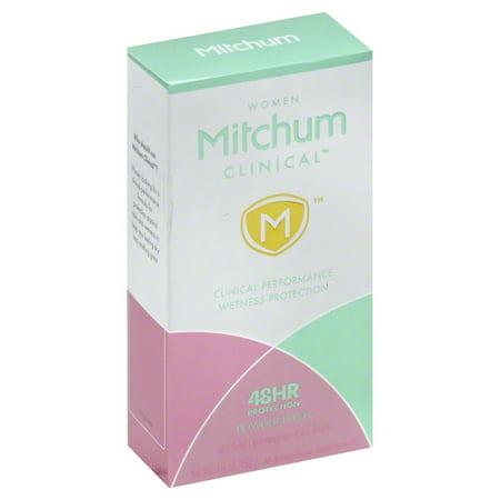 Mitchum Women Clinical Powder Fresh Soft Solid Anti-Perspirant & Deodorant, 1.6 (Mitchum Fragrance)