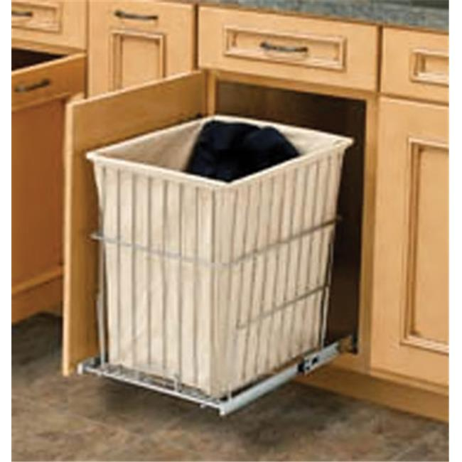 HD RSHRV.1520 S CR Rev-A-Shelf Pull Out Wire Hamper, Chrome, 64 qt. - 14.75 in.