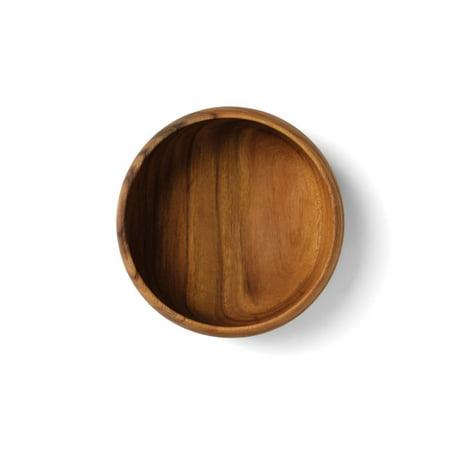 Acacia Wood Fox Run 74922 Round Calabash Bowl 12-Inch