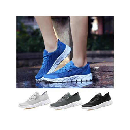Running Sneakers (Men Casual Shoes Breathable Running Sport Walking Fitness Athletic)