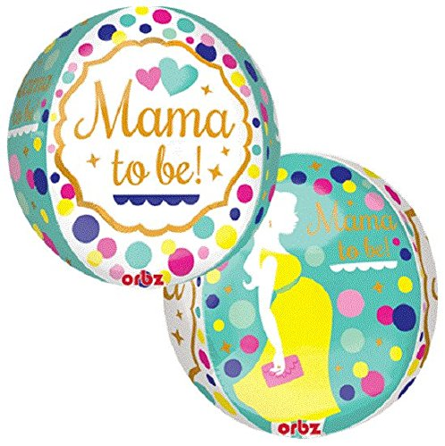 "ORBZ XL 16"" Mama To Be Baby Shower Mylar Foil Balloon Party Decoration, 1 Balloon per package By Anagram"