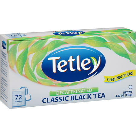 Naturally Flavored Black Tea - (3 Boxes) Tetley Naturally Decaffeinated Classic Blend, 72 Ct