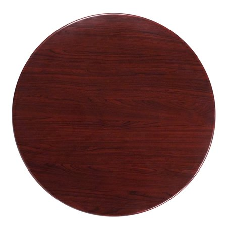 Flash Furniture 36 Round Resin Mahogany Table Top