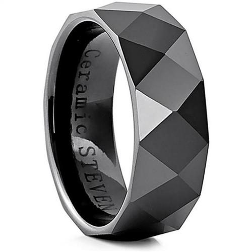 Doma Jewellery SSCER0618.5 Ceramic Ring - 8 mm. Wide, Size 8.5