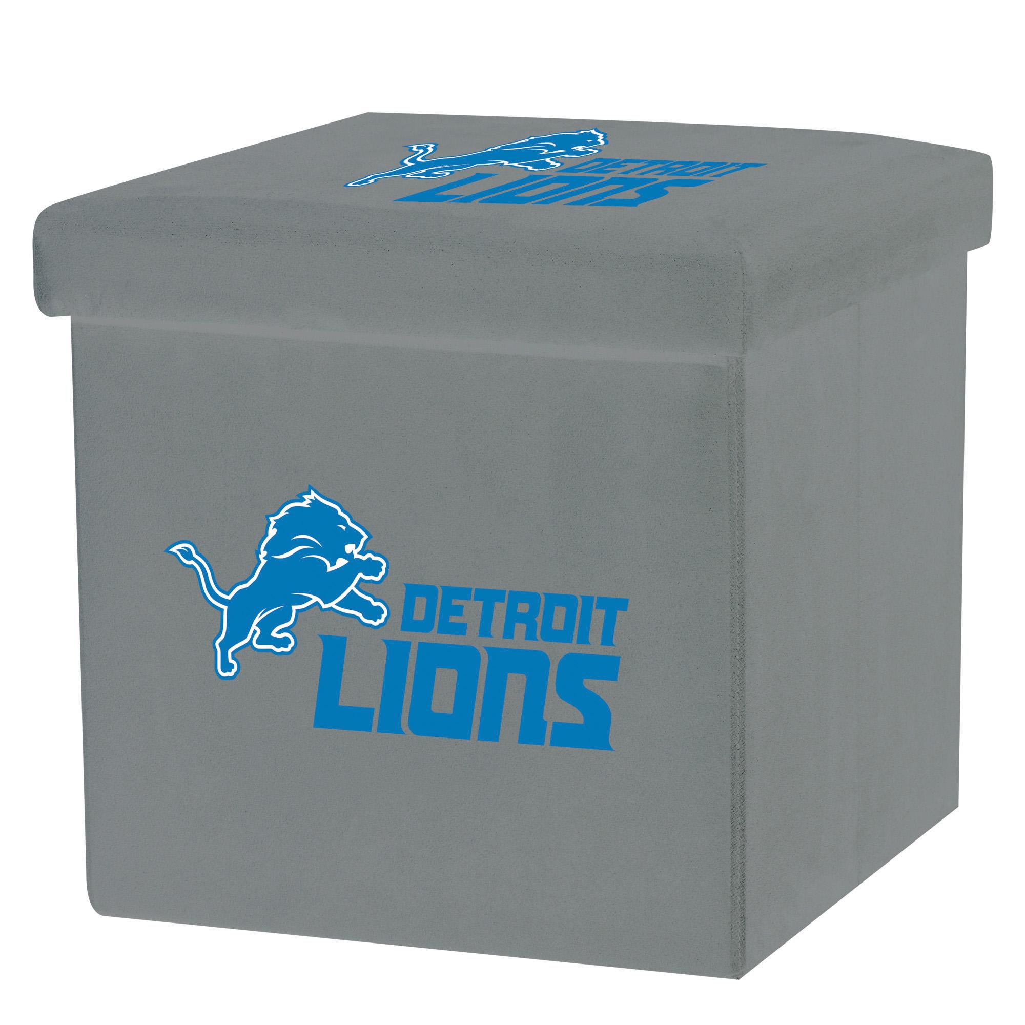 Franklin Sports NFL Detroit Lions Storage Ottoman with Detachable Lid