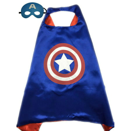 Superhero or Princess CAPE & MASK SET Kids Childrens Halloween Costume Cloak (Super Hero Outfit)