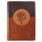 Trust Jeremiah 17:7-8 Journal Lux-Leather Brown with Zipper : Blessed Is the Man Who Trusts in the Lord