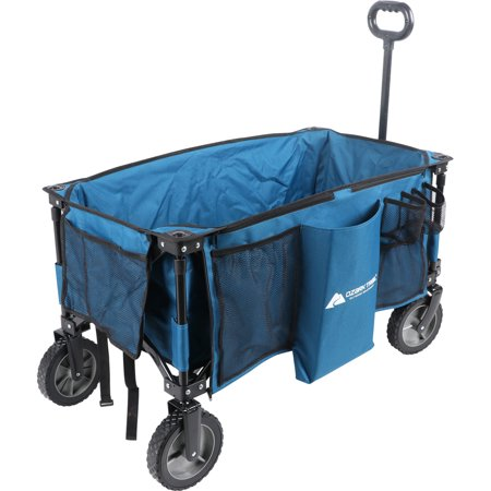 - Ozark Trail Quad-Folding Wagon with Telescoping Handle, Blue