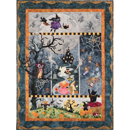 McKenna Ryan~Once in a Boo Moon~Halloween~Pre-Cut Laser Applique Kit w/Fabric~46 1/2'' x 61 1/2''