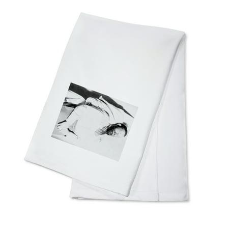 Dead Body of Outlaw Jesse James Photograph (100% Cotton Kitchen Towel)