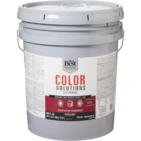 Do It Best Color Solutions 100 Acrylic Latex Self Priming Flat Exterior House Paint