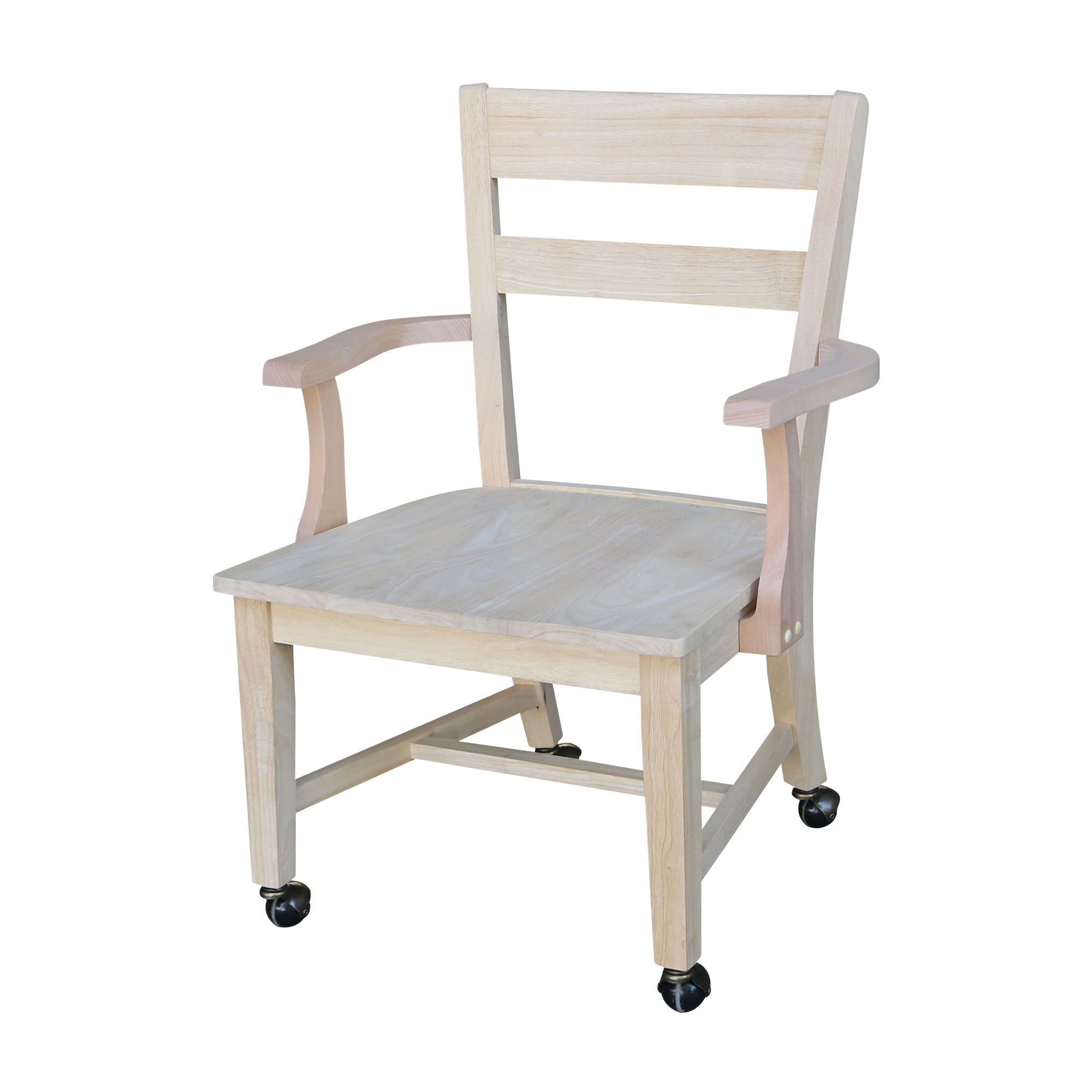 International Concepts Dining Chair With Casters Walmart Com