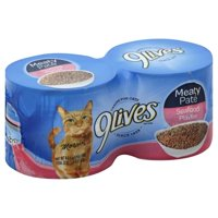 9 Lives Meaty Pate Seafood Platter Wet Cat Food, 5.5Ounce (Pack of 4)