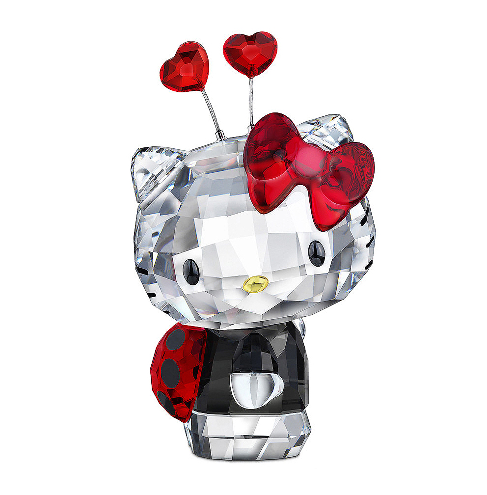 Swarovski Color Crystal Figurine HELLO KITTY LADYBUG #118...
