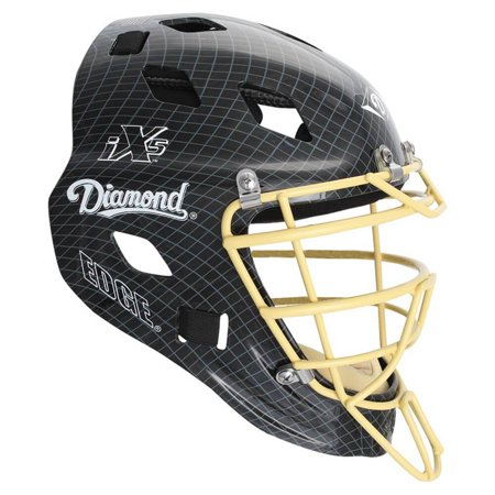 Diamond DCH-Edge Pro Catcher's Helmet Small - Black Vegas Gold