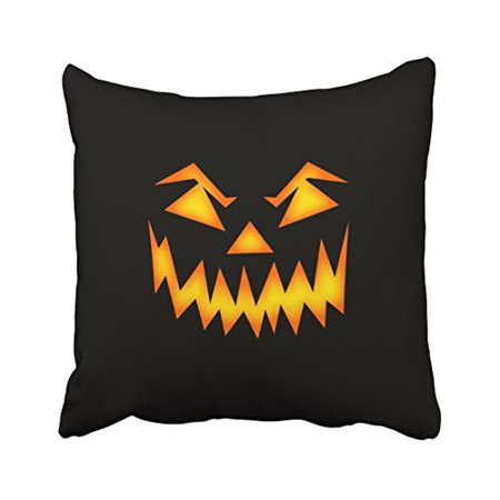 WinHome Funny Vintage Halloween Orange Pumpkin Lightning Pattern Personalized Black Polyester 18 x 18 Inch Square Throw Pillow Covers With Hidden Zipper Home Sofa Cushion Decorative Pillowcases - Pumpkin Patterns Halloween