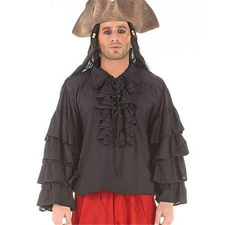 The Pirate Dressing C1084 Henry Morgan Shirt, Black - Extra Large](Morgen Halloween)