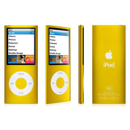 Apple iPod Nano 4th Generation 8GB Yellow , Like New Condition, No Retail