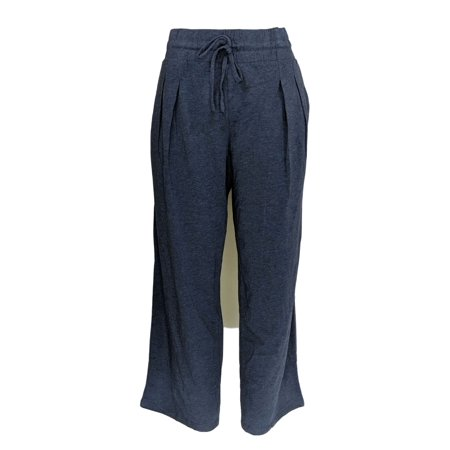 Anybody Women's Petite Pants M Cozy Knit Relaxed Blue A303107 Comfy Knit Pants