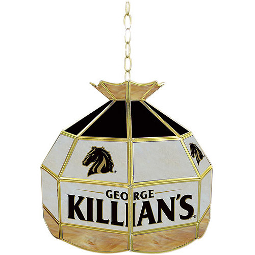 "Trademark Global George Killians 16"" Stained Glass Tiffany Lamp Light Fixture"